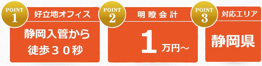 静岡入管から徒歩30秒のオフィス、料金1万円~。対応エリア静岡県内全域