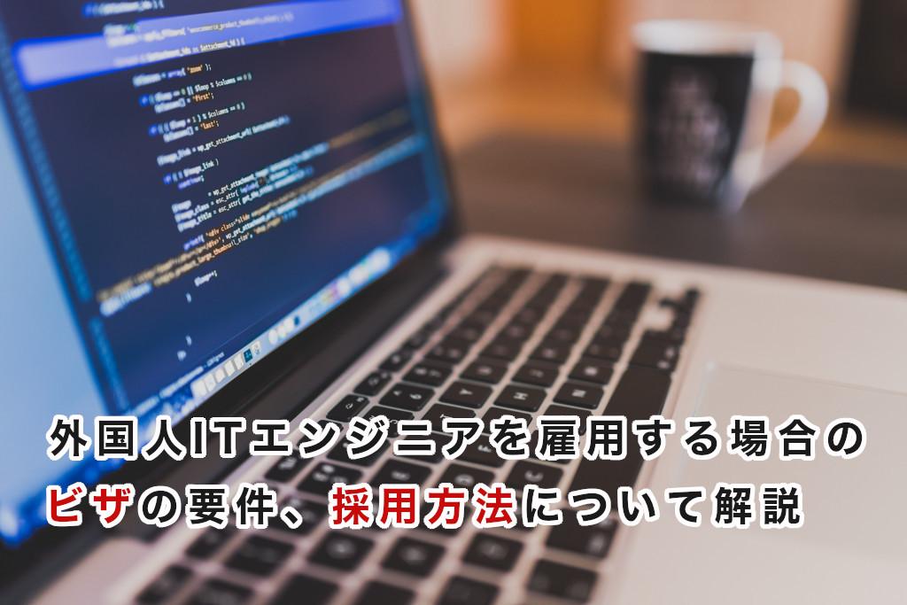 【静岡県の行政書士】外国人ITエンジニアを雇用する場合の在留資格(ビザ)の要件や、採用方法について解説